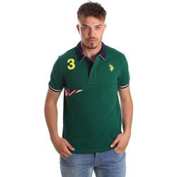tekstylia Męskie Koszulki polo z krótkim rękawem U.S Polo Assn. 41029 51252 Zielony