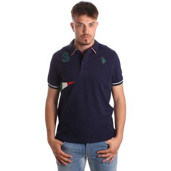 tekstylia Męskie Koszulki polo z krótkim rękawem U.S Polo Assn. 41029 51252 Niebieski