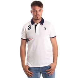 tekstylia Męskie Koszulki polo z krótkim rękawem U.S Polo Assn. 41029 51252 Biały