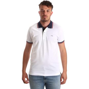 tekstylia Męskie Koszulki polo z krótkim rękawem Key Up 2Q62G 0001 Biały