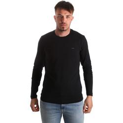 tekstylia Męskie T-shirty z długim rękawem Key Up 2E96B 0001 Czarny