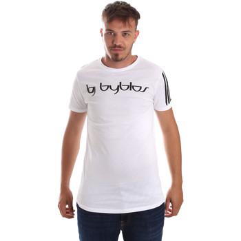 tekstylia Męskie T-shirty z krótkim rękawem Byblos Blu 2MT0016 TE0046 Biały