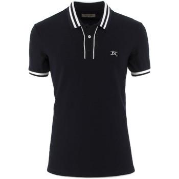 tekstylia Męskie Koszulki polo z krótkim rękawem NeroGiardini P972210U Niebieski