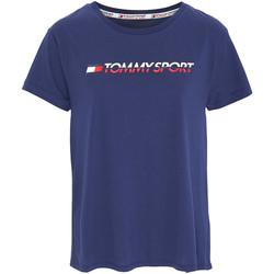 tekstylia Damskie T-shirty z krótkim rękawem Tommy Hilfiger S10S100061 Niebieski
