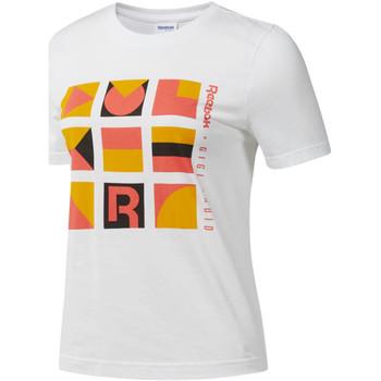 tekstylia Damskie T-shirty z krótkim rękawem Reebok Sport DY9368 Biały