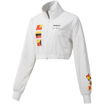 tekstylia Damskie Kurtki krótkie Reebok Sport DY9376 Biały