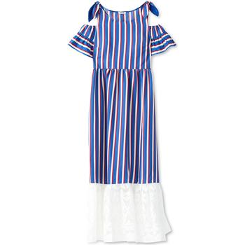 tekstylia Damskie Sukienki długie Liu Jo F19228T2311 Niebieski