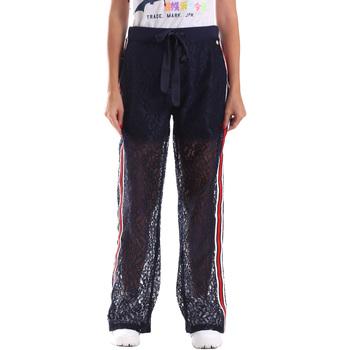 tekstylia Damskie Spodnie dresowe Fracomina FR19SP905 Niebieski