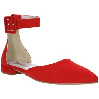 Buty Damskie Baleriny Grace Shoes 977003 Czerwony