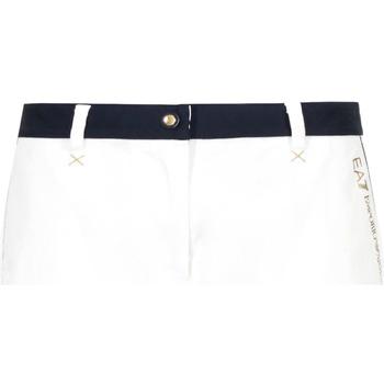 tekstylia Damskie Szorty i Bermudy Ea7 Emporio Armani 3GTS02 TN29Z Biały