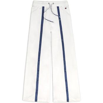 tekstylia Damskie Spodnie dresowe Champion 111377 Biały