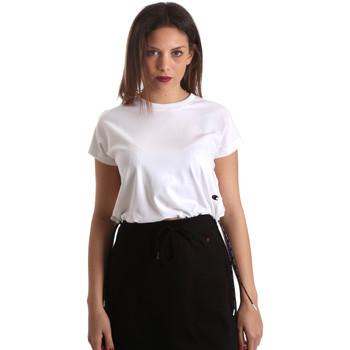 tekstylia Damskie T-shirty z krótkim rękawem Champion 111487 Biały