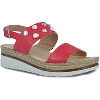 Buty Damskie Sandały Pitillos 5653 Czerwony