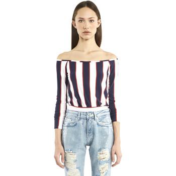 tekstylia Damskie T-shirty z długim rękawem Denny Rose 911DD60016 Niebieski