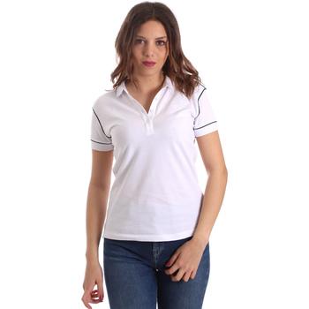 tekstylia Damskie Koszulki polo z krótkim rękawem La Martina NWP002 PK001 Biały