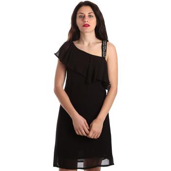 tekstylia Damskie Sukienki krótkie Gaudi 911FD15011 Czarny