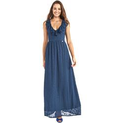 tekstylia Damskie Sukienki długie Gaudi 911BD15007 Niebieski