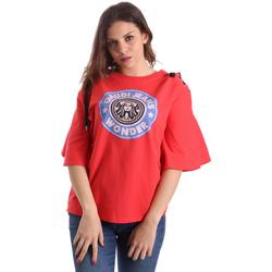 tekstylia Damskie T-shirty z krótkim rękawem Gaudi 911BD64037 Czerwony