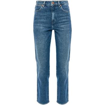 tekstylia Damskie Jeansy straight leg Wrangler W238TN Niebieski
