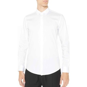 tekstylia Męskie Koszule z długim rękawem Antony Morato MMSL00293 FA450001 Biały