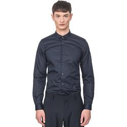 tekstylia Męskie Koszule z długim rękawem Antony Morato MMSL00596 FA400072 Niebieski