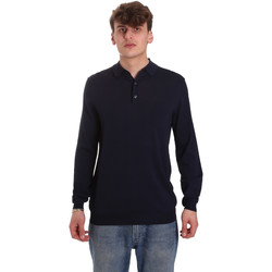 tekstylia Męskie Koszulki polo z długim rękawem Antony Morato MMSW01065 YA500057 Niebieski
