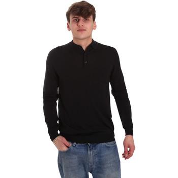 tekstylia Męskie Koszulki polo z długim rękawem Antony Morato MMSW01065 YA500057 Czarny
