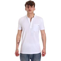 tekstylia Męskie Koszulki polo z krótkim rękawem Antony Morato MMKS01741 FA120022 Biały