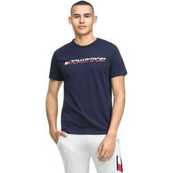 tekstylia Męskie T-shirty z krótkim rękawem Tommy Hilfiger S20S200051 Niebieski