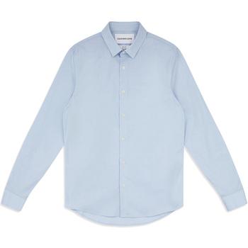 tekstylia Męskie Koszule z długim rękawem Calvin Klein Jeans J30J313171 Niebieski