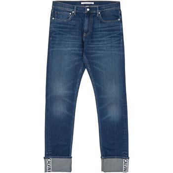 tekstylia Męskie Jeansy straight leg Calvin Klein Jeans J30J312361 Niebieski