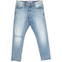 tekstylia Męskie Jeansy straight leg Calvin Klein Jeans J30J312380 Niebieski