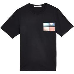 tekstylia Męskie T-shirty z krótkim rękawem Calvin Klein Jeans J30J312834 Czarny