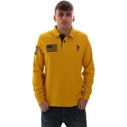 tekstylia Męskie Koszulki polo z długim rękawem U.S Polo Assn. 52416 47773 Żółty