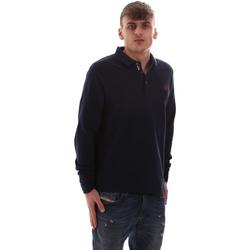 tekstylia Męskie Koszulki polo z długim rękawem U.S Polo Assn. 52415 47773 Niebieski