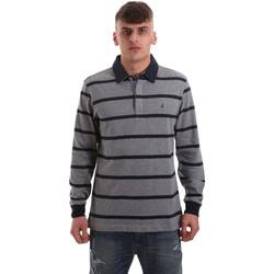 tekstylia Męskie Koszulki polo z długim rękawem Navigare NV30027 Szary