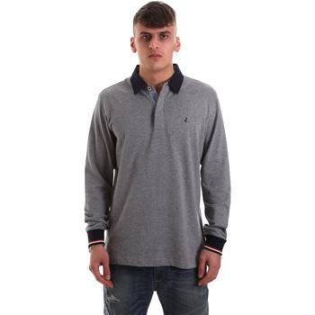 tekstylia Męskie Koszulki polo z długim rękawem Navigare NV32023 Szary