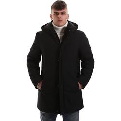 tekstylia Męskie Płaszcze Navigare NV68081 Czarny