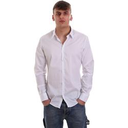 tekstylia Męskie Koszule z długim rękawem Gaudi 921FU45014 Biały