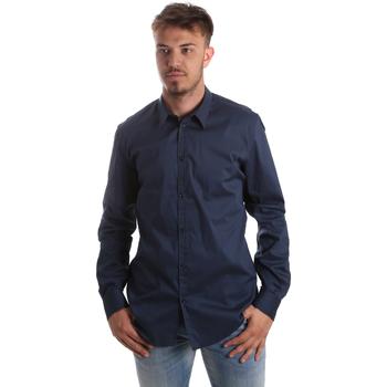 tekstylia Męskie Koszule z długim rękawem Gaudi 921FU45014 Niebieski