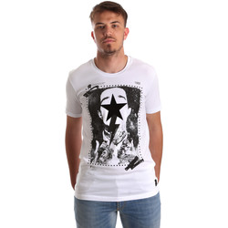 tekstylia Męskie T-shirty z krótkim rękawem Gaudi 921FU64002 Biały