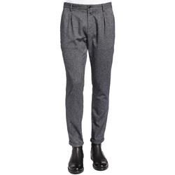 tekstylia Męskie Spodnie od garnituru  Gaudi 921BU25018 Czarny