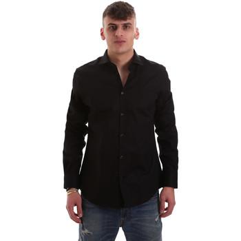 tekstylia Męskie Koszule z długim rękawem Gaudi 921BU45001 Czarny