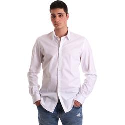 tekstylia Męskie Koszule z długim rękawem Gaudi 921BU45001 Biały
