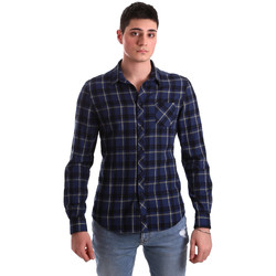 tekstylia Męskie Koszule z długim rękawem Gaudi 921BU45006 Niebieski