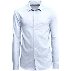 tekstylia Męskie Koszule z długim rękawem NeroGiardini A973180U Niebieski