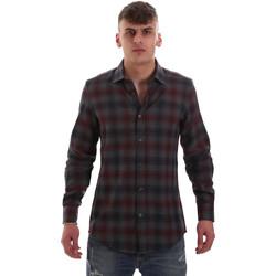 tekstylia Męskie Koszule z długim rękawem Antony Morato MMSL00548 FA410091 Szary