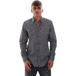 tekstylia Męskie Koszule z długim rękawem Antony Morato MMSL00574 FA430158 Niebieski