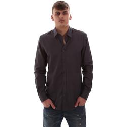 tekstylia Męskie Koszule z długim rękawem Antony Morato MMSL00574 FA430403 Szary