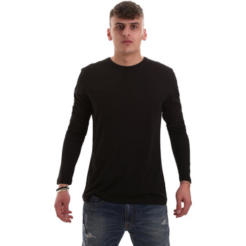 tekstylia Męskie T-shirty z długim rękawem Antony Morato MMKL00264 FA100066 Czarny
